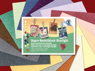 Χαρτί κανσόν starlight σε μπλοκ 17 φύλλων