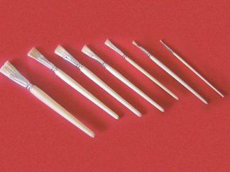 Πινέλα πλακέ με κοντή φυσική τρίχα Νο18-0