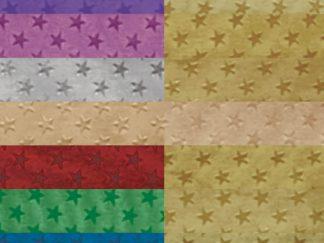 Αλουμινόχαρτο ρολό διπλής όψης με χρυσά αστέρια-0