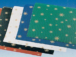 Χαρτιά αλουμινόχαρτα, γκοφρέ με άστρα-0