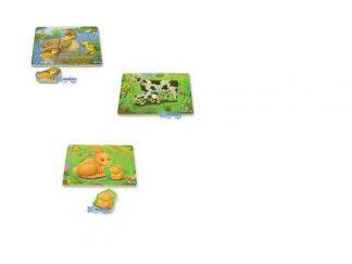 Ξύλινα puzzles - Ήμερα ζώα-0