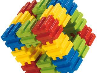 PLAYCUBE Πολυβραβευμένο παιχνίδι από 48 μαλακά κομμάτια.-0