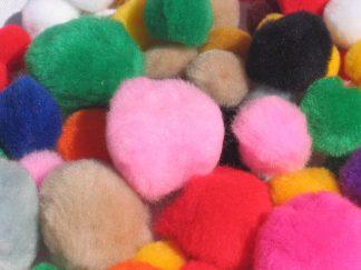 Pom poms σε διάφορα χρώματα-0