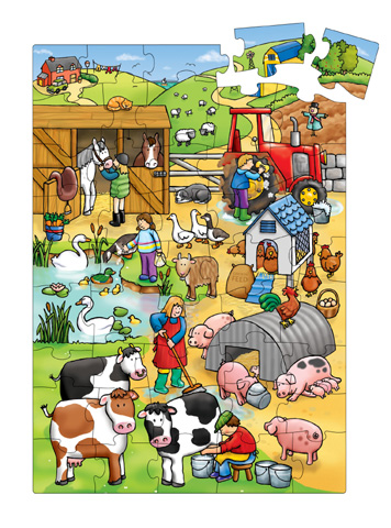 """Puzzle """"Φάρμα των ζώων""""-0"""