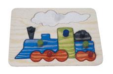Ξύλινο puzzle – Τρένο-0