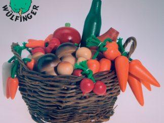 Ξύλινα φρούτα και λαχανικά σε καλαθάκι-0