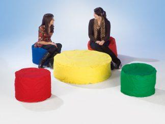 Κάθισμα - τραπεζάκι στρογγυλό κίτρινο μεσαίο μέγεθος -0