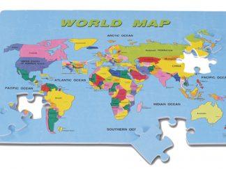"""Αφρώδες Παζλ """"Πάγκόσμιος Χάρτης""""-0"""