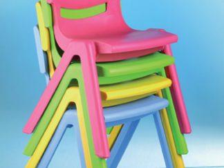 Σετ από 12 πλαστικές καρέκλες 30cm -0