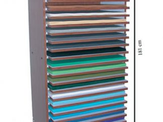 Ξύλινο stand για χαρτιά-0