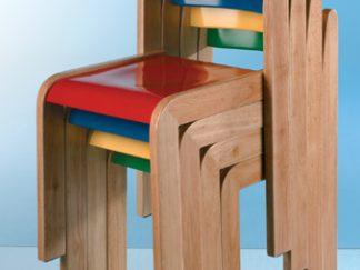 Σετ από 2 χρωματιστές καρέκλες ΤΟΜ, ύψους 38cm-0
