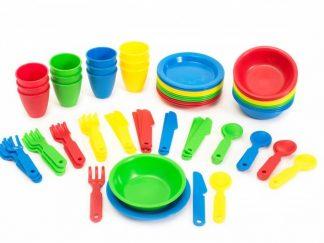72 κομμάτια μαχαίρια ,πιρούνια .κουτάλια, πιάτα μπολ ποτήρια -0